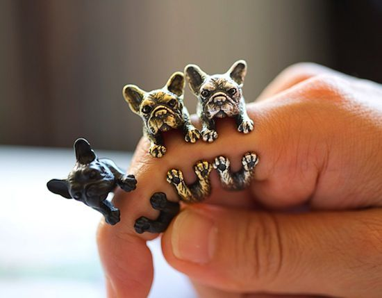 adorable animal jewelry from Yaci #bulldog #dog #cat #animal #jewelry