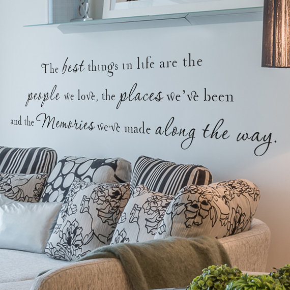 The best things in life Vinyl Wall Quote Decal Wall Words Wall art