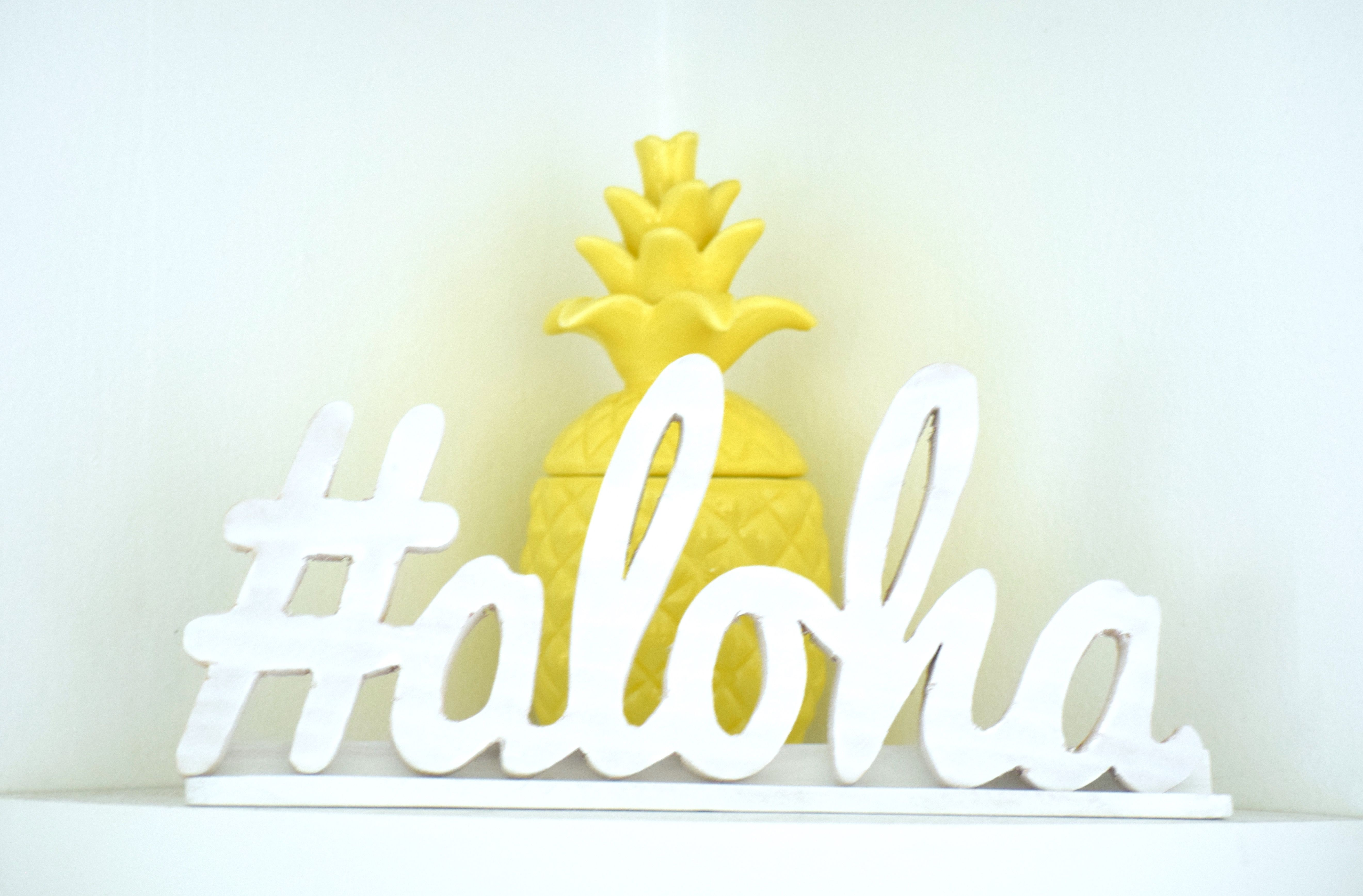 Hashtag Aloha Cut-Out Sign only $40.00