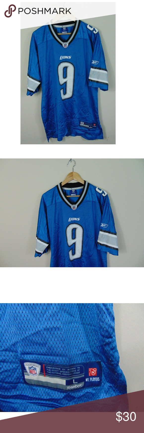 Reebok Men s L NFL On Field Jersey Detroit Lions Reebok Men s L NFL On Field  Jersey 0b875fcdc