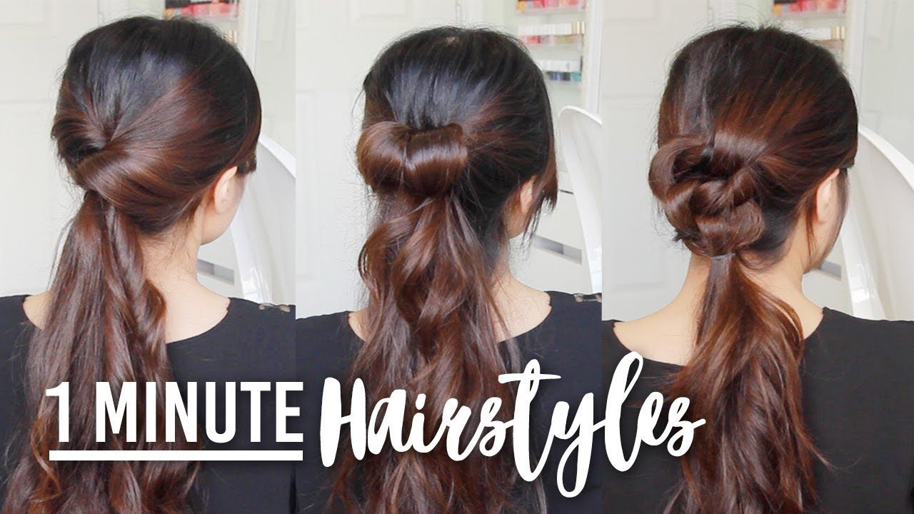 1 Minute Hairstyle Hacks Easy Hair Tutorials For Medium To Long Hair Youtube Easy Hairstyles Hair Tutorial Easy Hairstyles For Long Hair