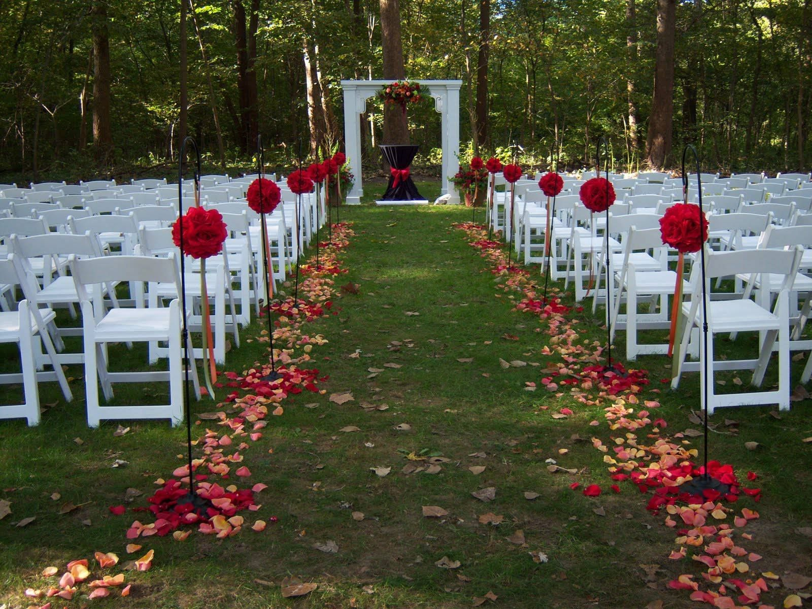 Fall outside wedding decoration ideas  Pin by Royal Events u Weddings on Outdoor wedding decorations