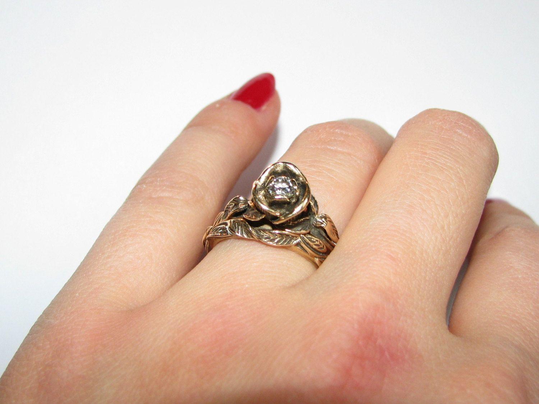 47+ Rose wedding ring set ideas