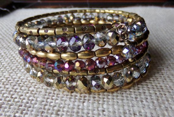 Luxe Harvest Wrap Bracelet With Shades Of by McHughCreations
