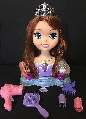Disney Princess Sofia The First Talking & Light Up Deluxe Styling Head Doll Girl