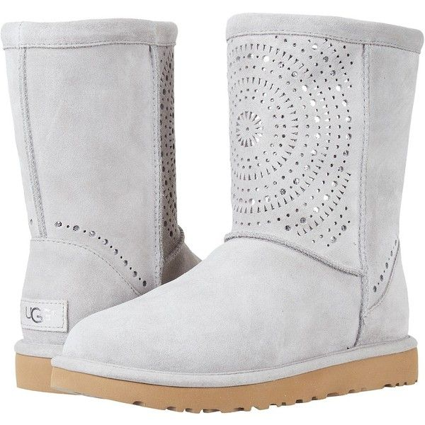 c31df47172a UGG Classic Short Sunshine Perf (Seal) Women's Pull-on Boots ($180 ...