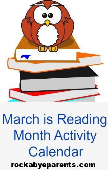 March Is Reading Month Activity Calendar   Activities March And