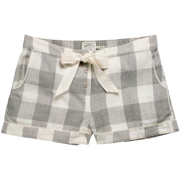 Fat Face Wilsford Check Pyjama Shorts, Grey (695 CZK) ❤ liked on ...
