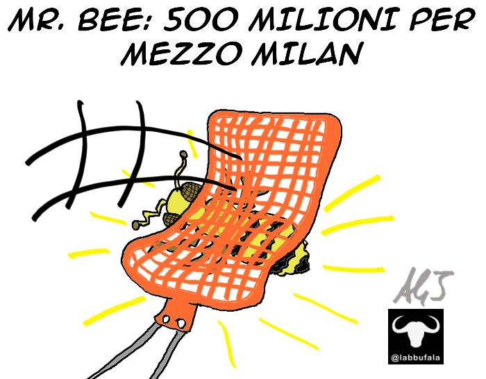 Milan, Mr,Bee, Berlusconi, sport, umorismo