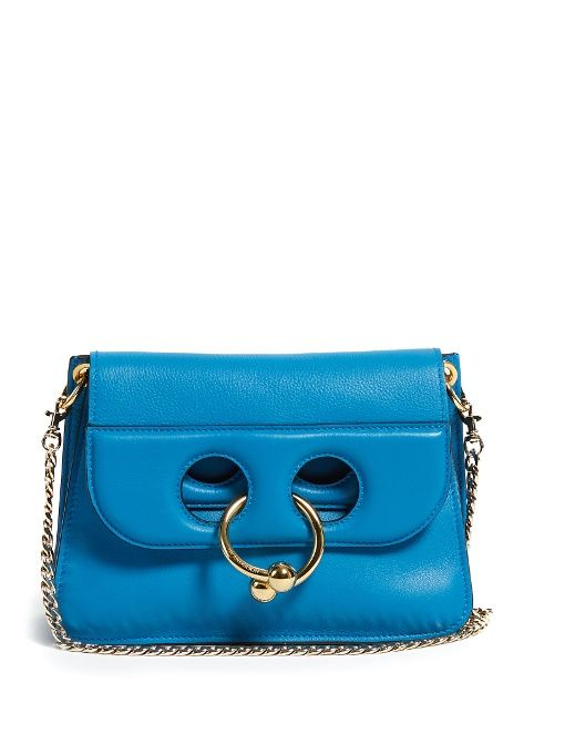 Jw Anderson Pierce Mini Leather Shoulder Bag In Black And