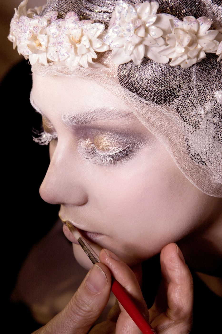 John Galliano Fall 2009. Makeup by Pat McGrath.