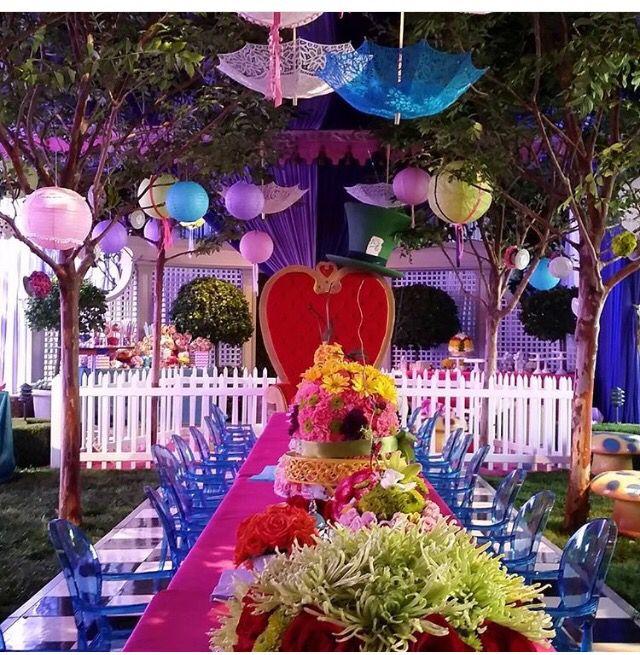 Alice In Wonderland Theme Alice In Wonderland Tea Party Alice In Wonderland Tea Party Birthday Wonderland Party Theme