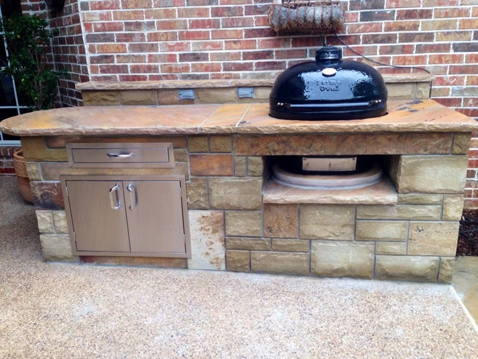 Outdoor Grill With Primo Smoker Outdoor Kitchen Plans Outdoor Kitchen Outdoor Grill