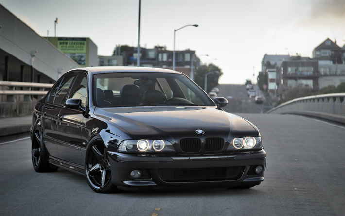Download Wallpapers 4k Bmw M5 Tuning E39 Stance Black