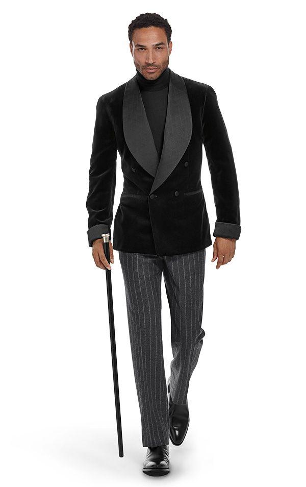 velvet double breasted dinner jacket homm pinterest smoking dressing und stil. Black Bedroom Furniture Sets. Home Design Ideas
