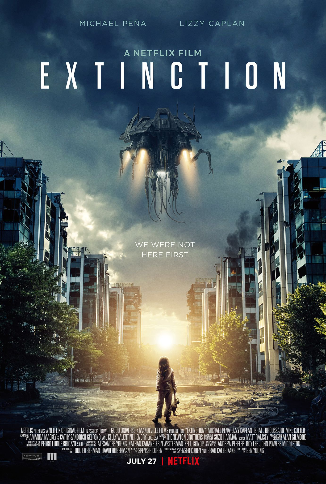 New film Extinction 2018 download free movies online without any money.  This movies story takes after a man who has a repeating dream for losing  his family.
