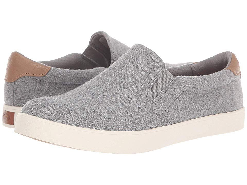 Slip on Shoes Light Grey Flannel Fabric