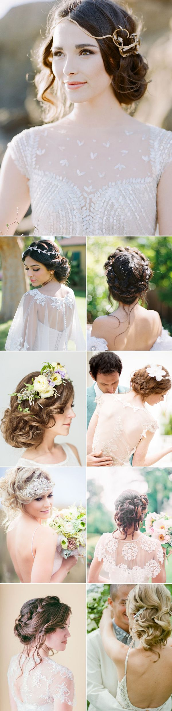 effortless beauty! 20 most naturally romantic bridal updos