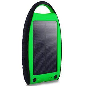 Chargeur Solaire Yokkao® LED 7000mAh Batterie Externe Double Ports USB Imperméable, Antichoc et Antipoussière, Noir et Vert