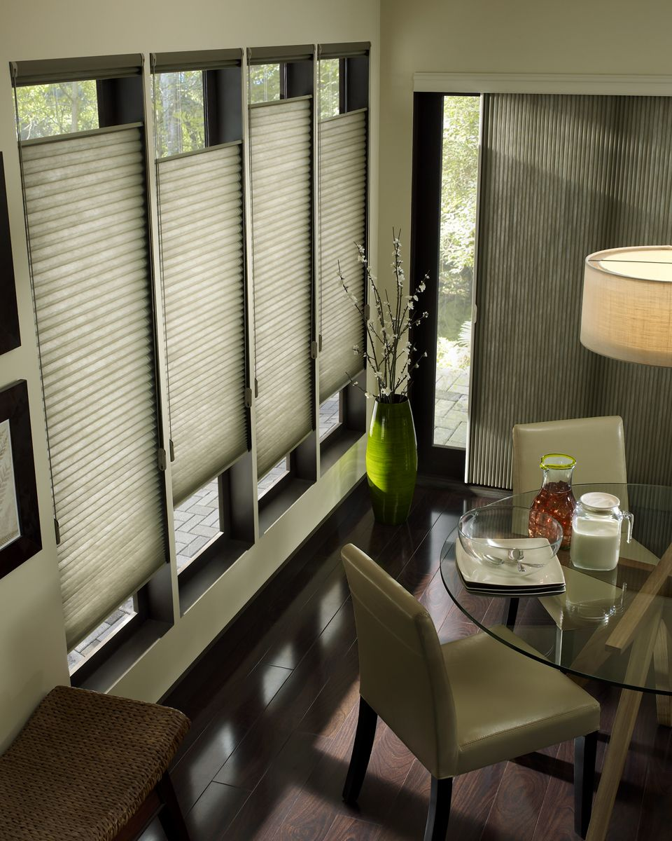 Window Treatments For Living Room -  hunterdouglas applause honeycomb shades dining room