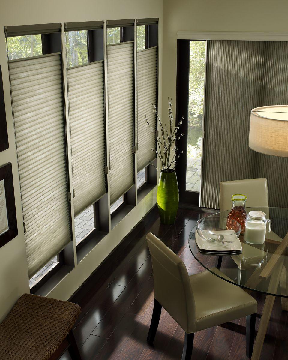 hunterdouglas applause® honeycomb shades - dining room | delicious