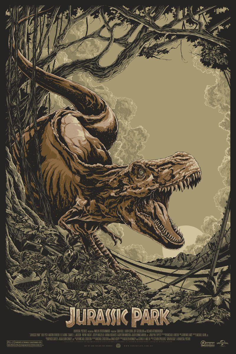 Jurassic park by ken taylor mondo art screen print ebay