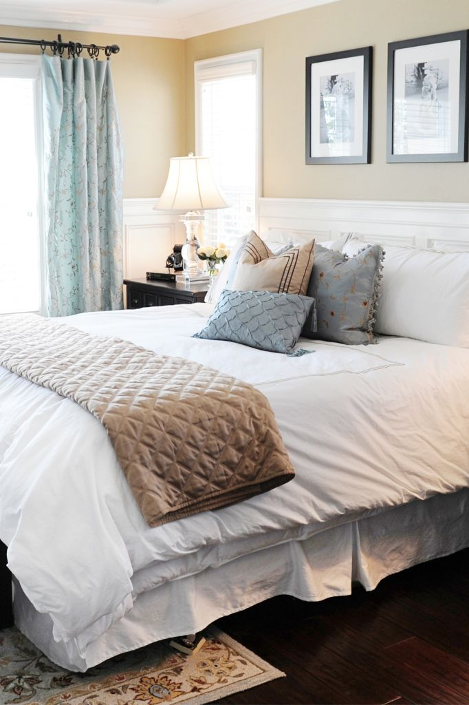 A Master Bedroom Make Over Is Easy With Beautiful Bedding And Pillows From Homegoods