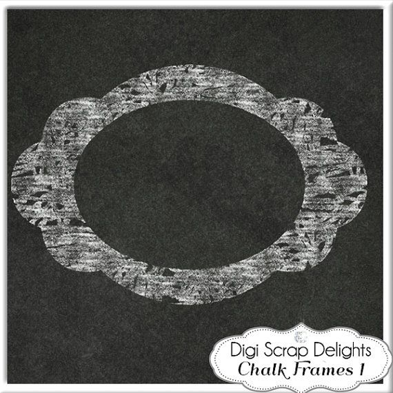 Digital chalk frames chalkboard clip art by digiscrapdelights items similar to digital chalk frames chalkboard clip art clipart decorative border craft diy invitations commercial use on etsy solutioingenieria Images