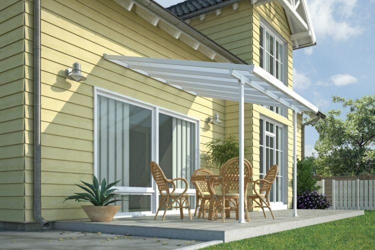 Toiture transparente pour terrasse avec cadre en aluminium ...