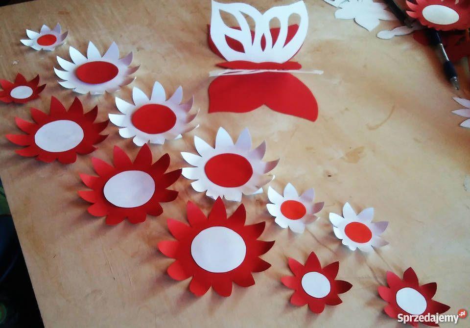 Swieto Niepodleglosci 11 Listopada Dekoracje Szkolne Preschool Crafts Craft Activities For Kids Valentine Crafts
