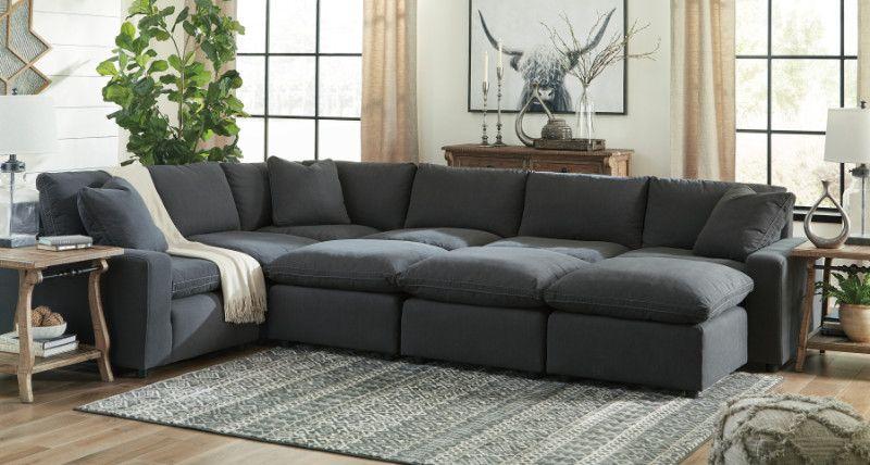 Feather Blend Modular Sectional Sofa, Comfort Living Furniture San Leandro