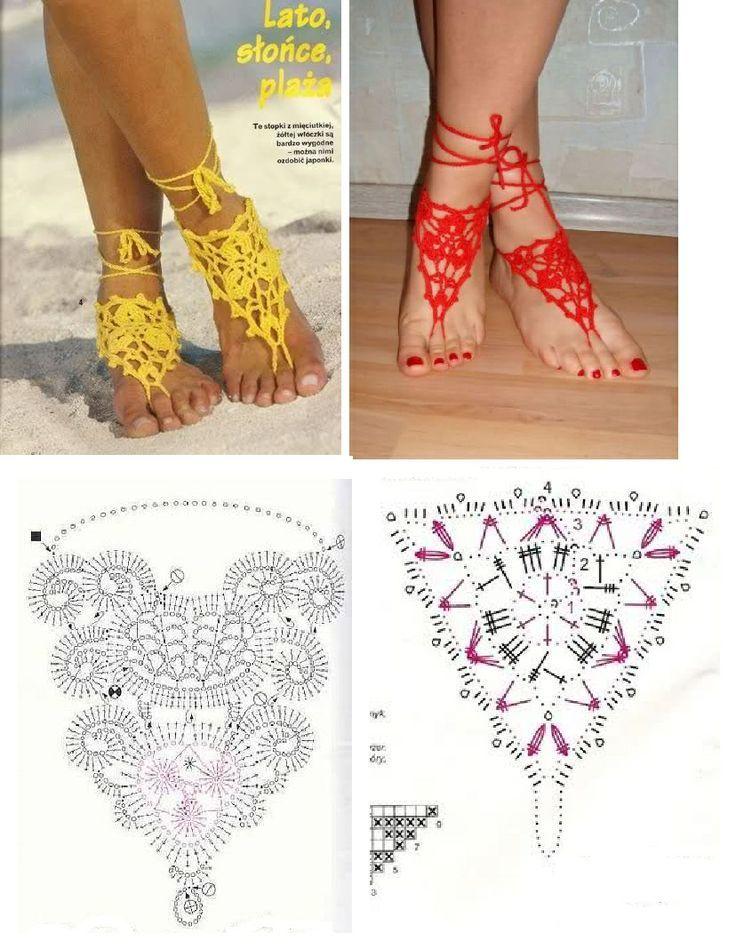 Sapatos de Crochê, como fazer - Inspiração, tutoriais e referências ...