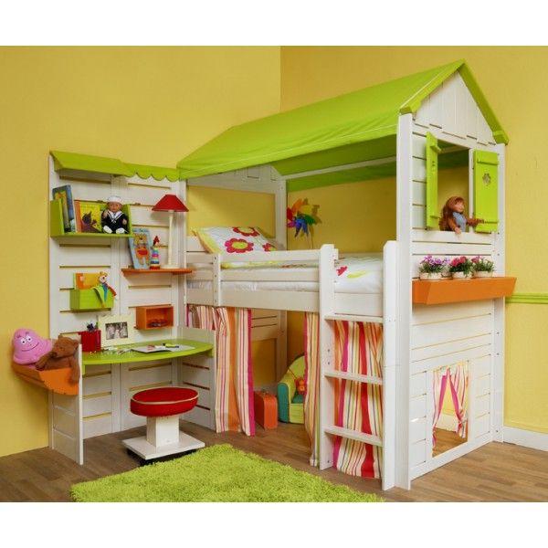 Lit ludolit grande cabane enfant lit lit enfant et chambre enfant - Lit superpose pour tout petit ...