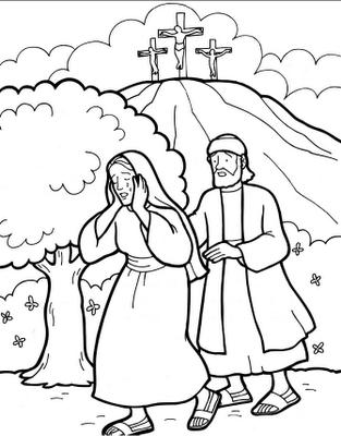 Sekolah Minggu Ceria Gambar Cerita Alkitab Tentang Kematian Jumat Agung Sampai Kebangkitan Tuhan Yesus Paskah 1 Kerajinan Alkitab Halaman Mewarnai Alkitab