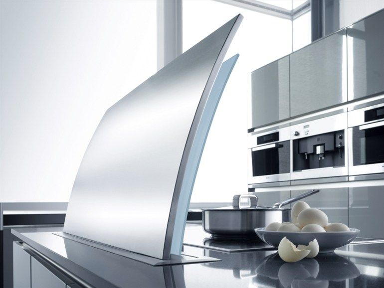 retractable stainless steel cooker hood futura cielo collection