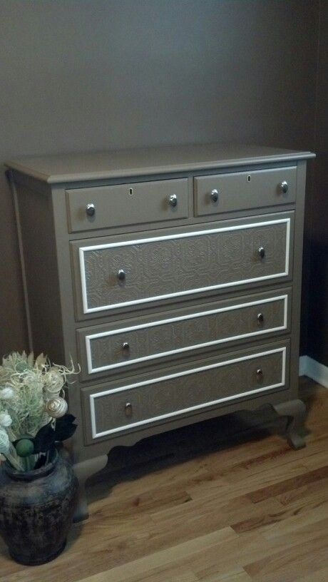 An old dresser that looks fancy and new!