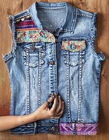 como transformar una chaqueta de jean en un chaleco de moda5 More 4bb545c855e1