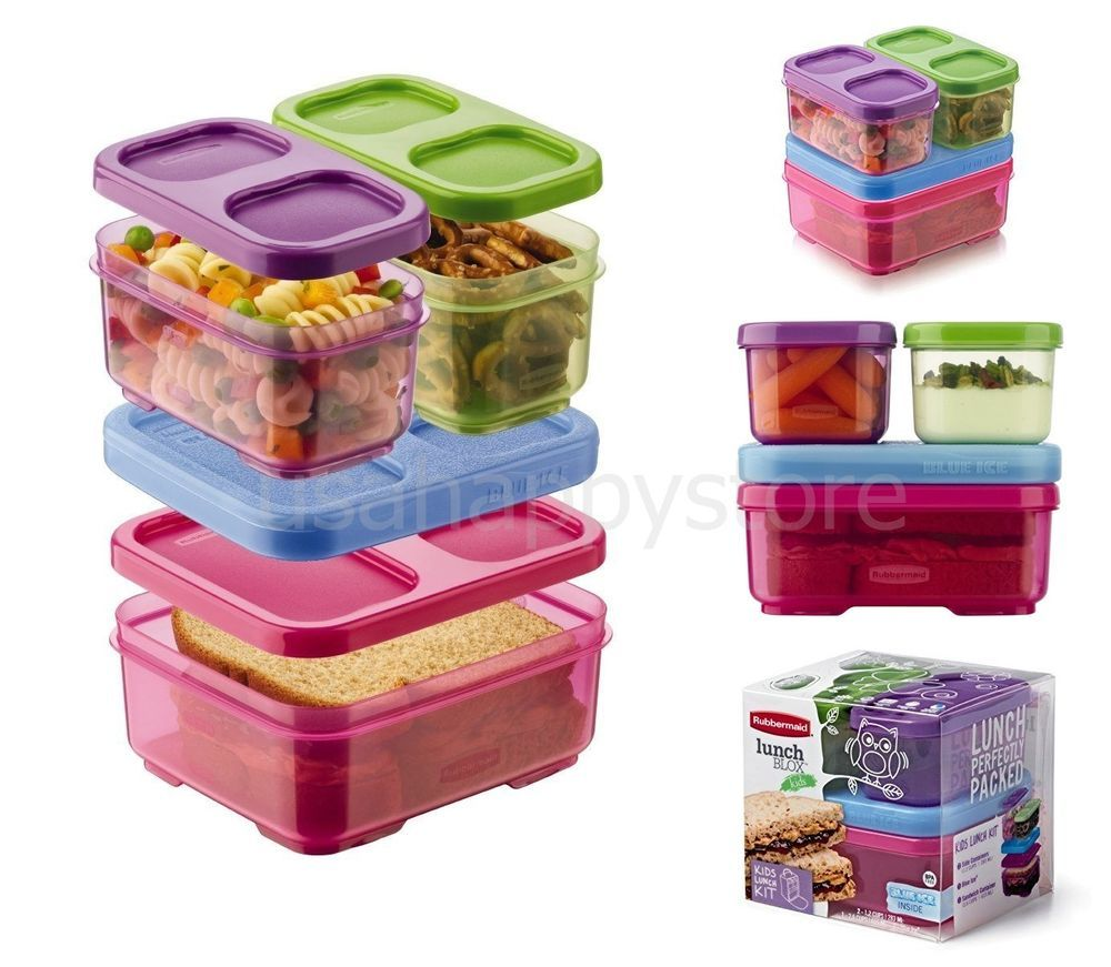 Lunch Box Rubbermaid Kit Food Storage Container Set Blue