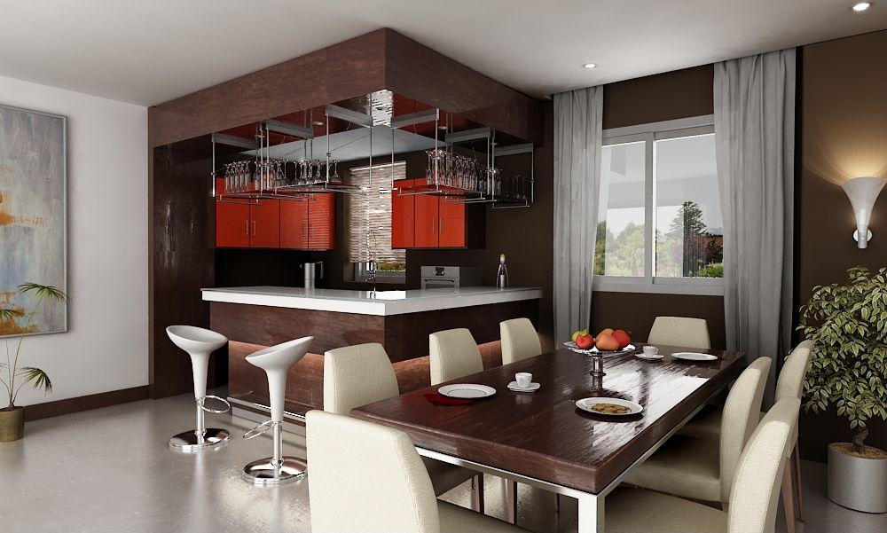 Diseño De Cocina Comedor. Dos diseños en una sola área que cautivan ...