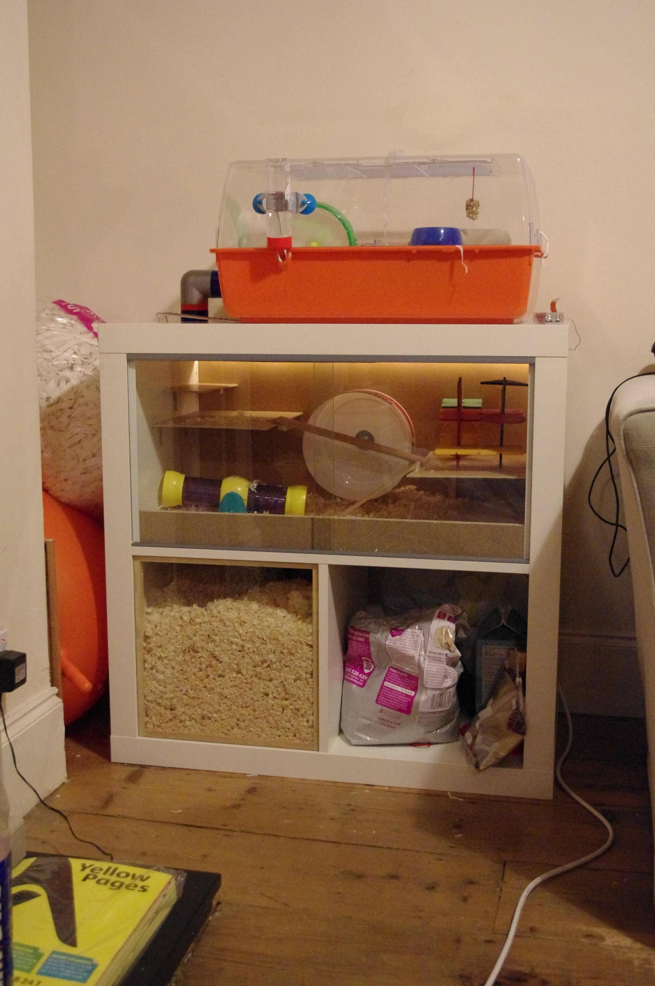 Ikea hack hamster cage hamster cages ikea hack and gerbil for How to build a hamster cage