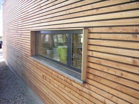 Querformatige Fenster rahmen die Aussicht zu Bildern.: