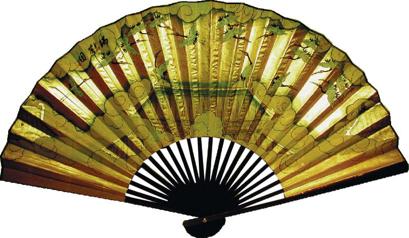 Chinese Wall Fan Flying Cranes | Decorative Chinese Wall Fans ...