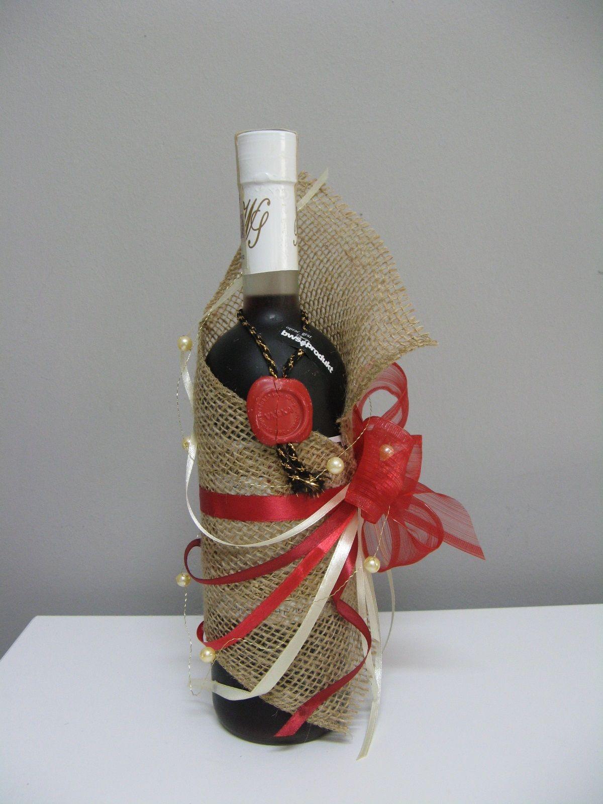 Udekorowane Wino Na Prezent2 Jpg 1200 1600 With Images