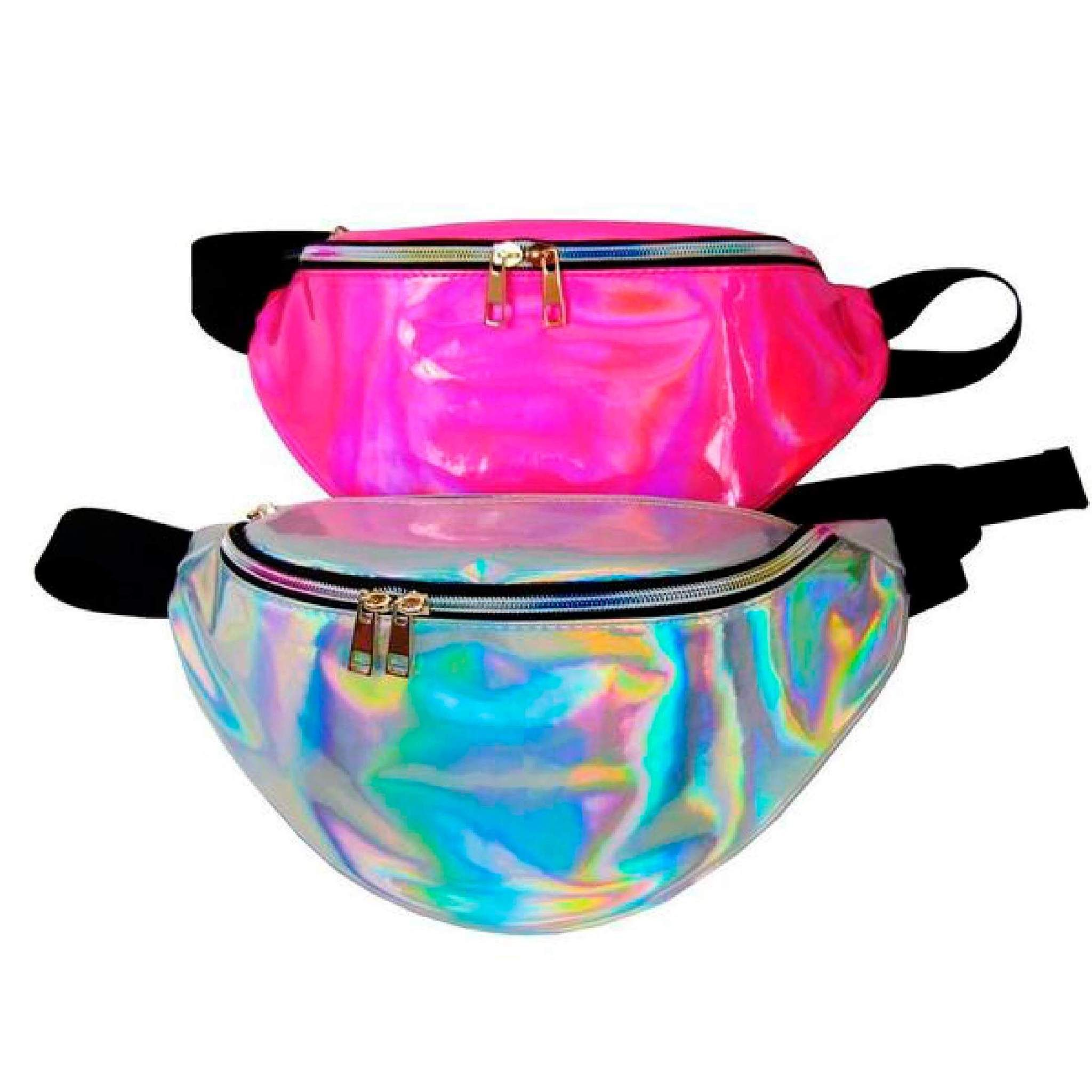22e6bfa7dc Holographic Old-School Fanny Pack Reflective Unisex Waist Pack ...