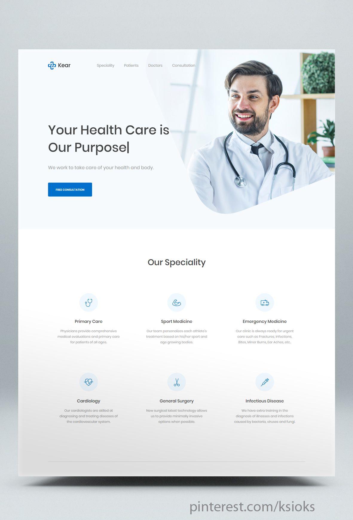 Medical Healthcare Landing Page Html Template Clean And Modern Medical Html5 Template It Can Be Us Medical Website Design Medical Design Healthcare Website