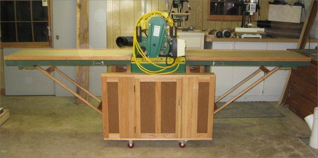 Mobile Planer Stand With Folding Outfeed Amp Infeed Tables