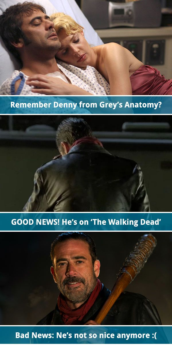 Oh, the Irony: Bringer of Woes Negan Is Also Denny Duquette, the ...