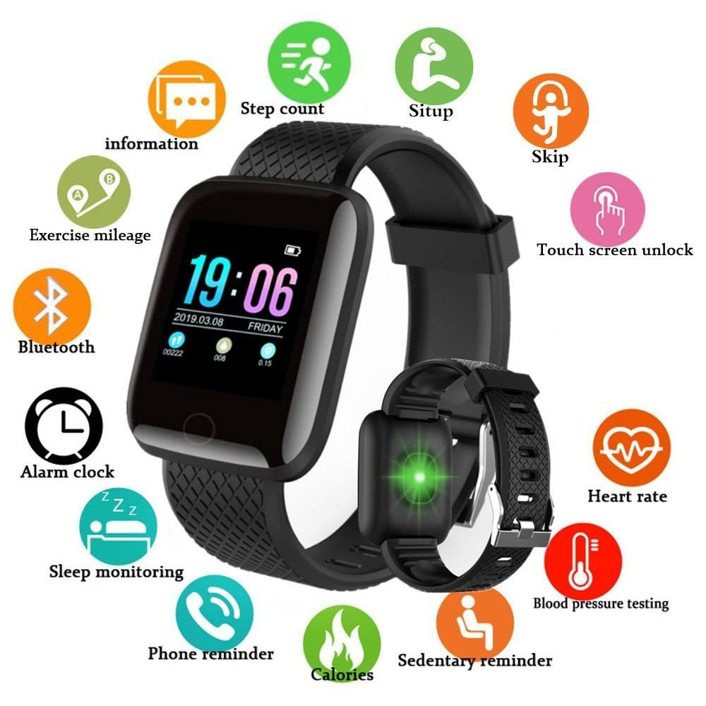 Doolnng Bluetooth Smart Watch Men Blood Pressure Smartwatch Women Heart Rate Monitor Fitness Tracker Sport For Android Ios A Outfit Ideen