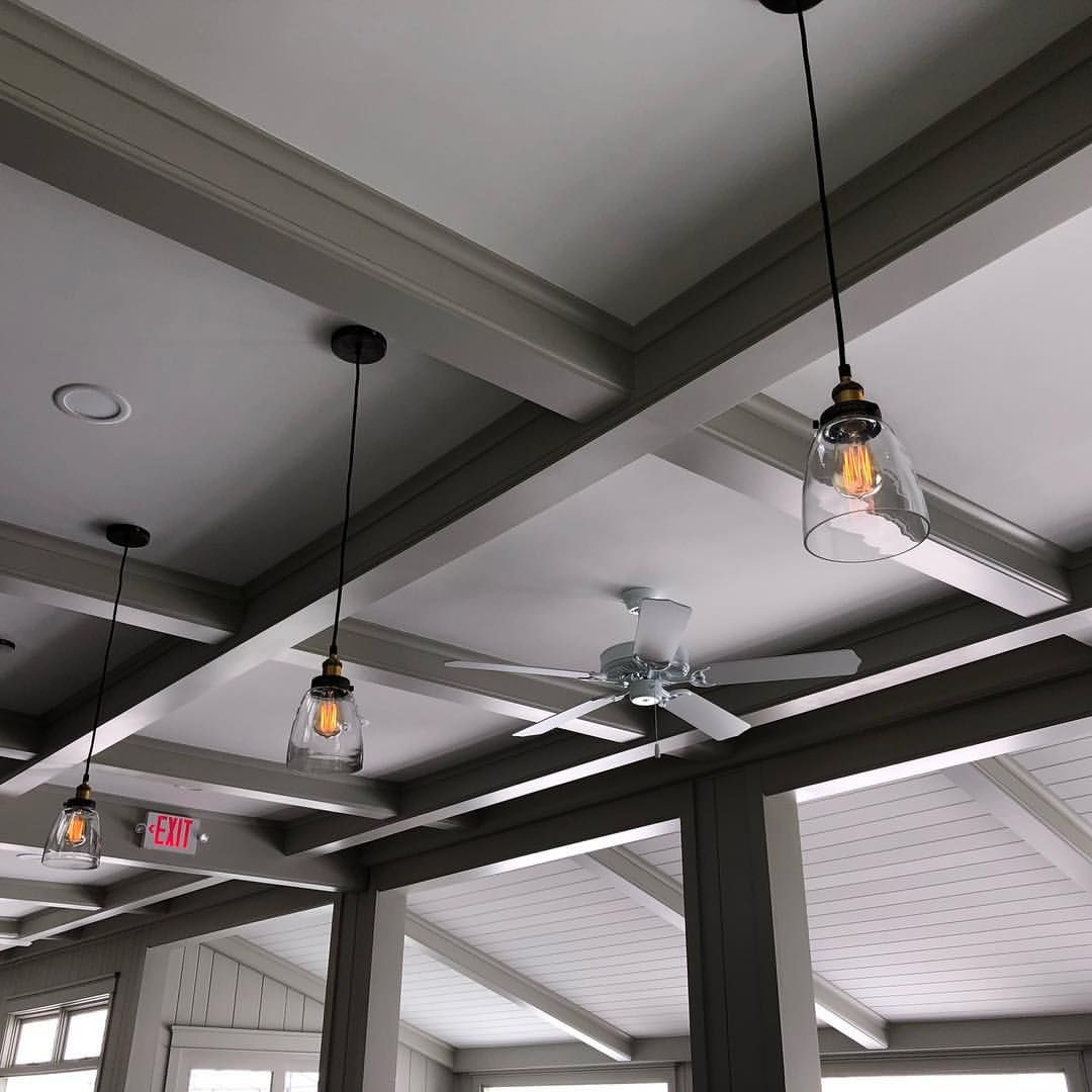 Northern Michigan Coffered Ceilings | Old lights, Ceiling ...