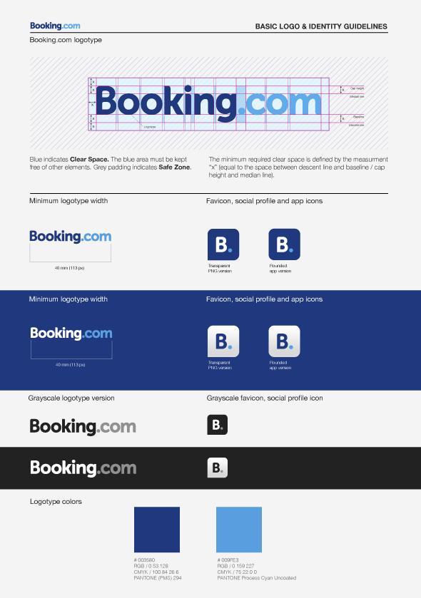 Booking Com Corporate Identity By Todytod Via Behance Logo Guidelines Brand Book Branding Design Logo